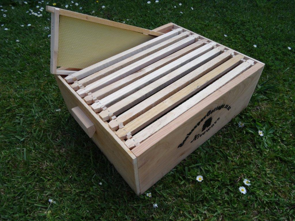Beekeeper Cottage Langstroth three quarter complete box (Macrocarpa)
